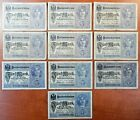 1917 Germany Lot of 10 OLD 5 Mark Banknotes - n459