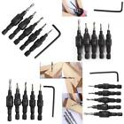 5pc Flute Countersink And Screw Set Pilot Drill Screw Sink Bits Counter Sink New