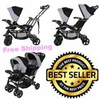 Foldable Baby Infant and Child Toddler Double Sit Stand Stroller Sun Protection