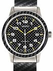 Aristo Swiss Automatic Pilot's Watch with Carbon Fiber Dial, Bracelet, and Bezel