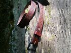 HANDCRAFTED VINTAGE SEQUOIA CONE NATIONAL PARKS Bridle leather Belts ONE OF A K