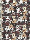 Doggie Land Dog Bones Paws Red Dots Fabric Collection Sold Separately
