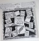 Hand sketched cards ATC designs Tattered Tangles Angels Tangled Pack Imagination