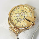 NEW Diesel DZ4360  Mega Chief Gold-tone Stainless Steel Wrist Watch for Men