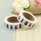 2017 New Print Washi Tape Japanese Cactus Plants 10m Decor Stationery 10m roll