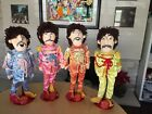 THE BEATLES SGT PEPPER LONELY HEARTS CLUB BAND RAG DOLLS WITH STANDS TAGS 1988