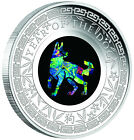 2018 Australia Opal Series Lunar Year of the Dog 1oz Silver Proof 1 Coin