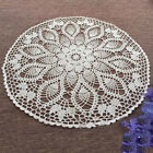 White Vintage Hand Crochet Lace Doily Round Table Topper Pineapple Pattern 23