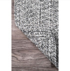 Handmade Casual Solid Braided Light Grey Runnner Rug Light Grey Nuloom
