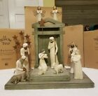 Demdaco Willow Tree Nativity 15 Piece Set Crche Angels Stars Wisemen with Boxes