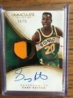 GARY PAYTON IMMACULATE AUTO AUTOGRAPH JERSEY PATCH CARD 75 SEATTLE SUPERSONICS!
