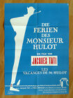 MR HULOTS HOLIDAY LES VACANCES DE MONSIEUR H German 1 sheet poster TATI