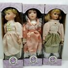 3 Bisque Porcelain 16 Dolls Stands Knightsbridge Collection Hand Painted