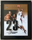 LeBron James Signed Rookie Numbers Cleveland Cavaliers Photo Jersey Display UDA