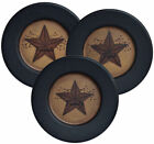 PRIMITIVE  HOME DECOR  ~ Faith Family Friends Star Plates Set of 3~ COUNTRY
