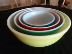 Vintage Pyrex Nesting Mixing Bowls Set of 4 Primary Colors XLNT
