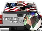 P325 American Flag Eagle Rear Window Tint Graphic Decal Wrap Back Pickup