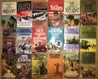 18 Book Lot Action Western Books William Terry Johnstone Louis Lamour Nice Mix