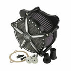 Black CNC Air Cleaner For Harley Touring Electra Street Glide Road King 08 16 15