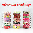 Kawaii Flowers Blossom Set Print DIY Decorative Masking Tape Japanese Washi Tape