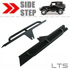 Black Side Body Armor Bars Rocker Knockers Sliders For 87-95 Jeep Wrangler YJ