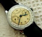 VINTAGE BAUME & MERCIER CHRONOGRAPH TWO TONED DIAL 34.1MM CASE  JUST SERVICED