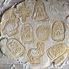 Nativity scene cookie cutter 9 cookie stamps in set Jesus Maria Joseph