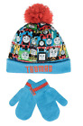 Thomas the Tank Engine Knit Hat with POM and Mitten Set New