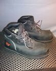 Mens Timberland Pro Series Steel Toe Black Leather Boots Size 10