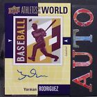 YORMAN RODRIGUEZ 2011 UD World of Sports Athletes World Autographs #AWYR Reds
