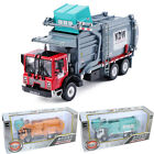 1 43 Scale Diecast Waste Management Garbage Truck Toys for Kids with Bin in Box