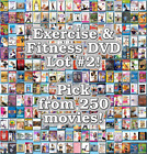 Exercise  Fitness DVD Lot 2 DISC ONLY Pick Items to Bundle and Save