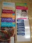 Lot of 8 Weight Watchers Weekly from 2012 + 6 Points Plus Trackers Never Used
