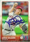 2015 Topps JERED WEAVER Signed Card autograph ANGELS