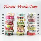 Cherry blossoms Flower Set Decorative Adhesive Masking Tape Japanese Washi Tape