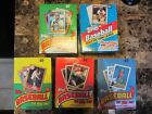 1987,1988,1989,1990,1992 Topps Baseball Wax Box Lot of 5 (36 packs box)