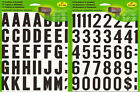 Mailbox Permanent Adhesive Letters  Numbers 2 Inch Black w White Background x