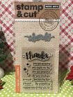 Hero Arts Stamp and Cut Thanks Stamp with Matching Die Cut Set FREE SHIP