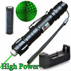 Military Green 1mw Laser Pointer Pen 532nm Visible Beam Zoom Burn+18650 Battery
