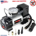 Portable Car Air Compressor Heavy Duty Inflator Tire Pump with LED Light 12V NEW