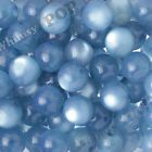 20mm 12pcs Cool Blue Cats Eye Beads Chunky Acrylic Round Gumball Bubble Gum Bead