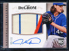 2014 NATIONAL TREASURES JACOB DEGROM RC AUTO 9 10 JERSEY PATCH LOGO ROOKIE CARD