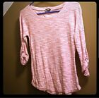 EXPRESS WOMANS SIZE XS PINK TEXTURED LOOKING SWEWTER 3/4 INCH SLEEVE