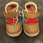 Surprize By Stride Rite Infant Boys Brown  Red Hector Boots Shoes Size 4 New