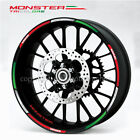 Ducati Monster 696 796 1200 Tricolore wheel decal stickers rim stripes Laminated