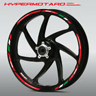 Ducati Hypermotard 939 SP 1100 wheel decals stickers rim stripes Laminated Red