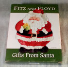FITZ & FLOYD CHRISTMAS GIFTS FROM SANTA CANAPE PLATE 2005