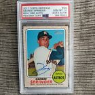 2017 TOPPS HERITAGE REAL ONE AUTO GEORGE SPRINGER PSA 10 & 2018 Throwback Thurs