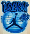 Custom Airbrushed Jump Man Shirt With Name Sizes 6 months Adult 5XL