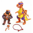 TMNT Ninja Turtles Cave Turtle Don Caveman Donatello w Dinosaur Figure Toy